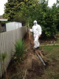 Asbestos fence removal process - 1