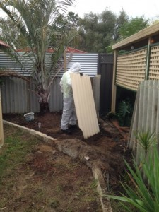 Asbestos fence removal process - 3