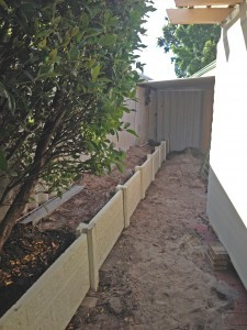 Twin Side Retaining Walls