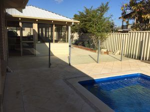 Semi-frameless pool fencing installation in Perth