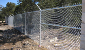 Galvanized Chain Link Security Fence
