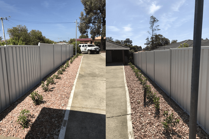 White Colorbond Fence Perth