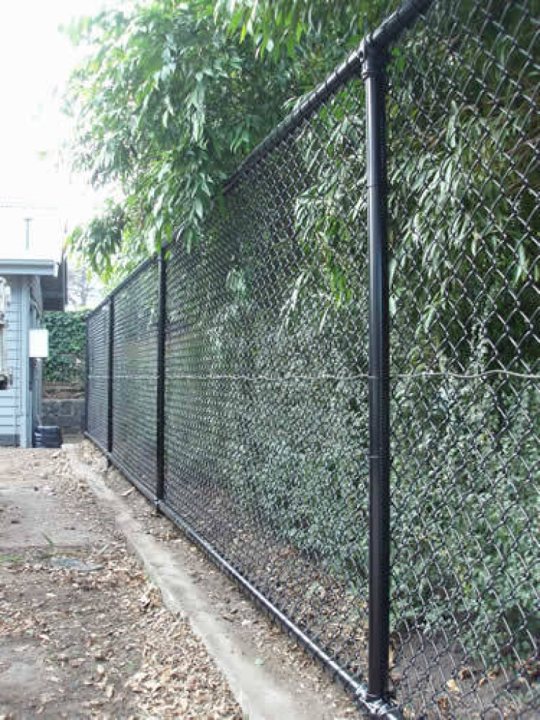 Black Coated Chain Link Fence Perth