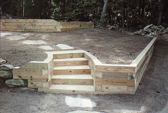 retaining wall timber