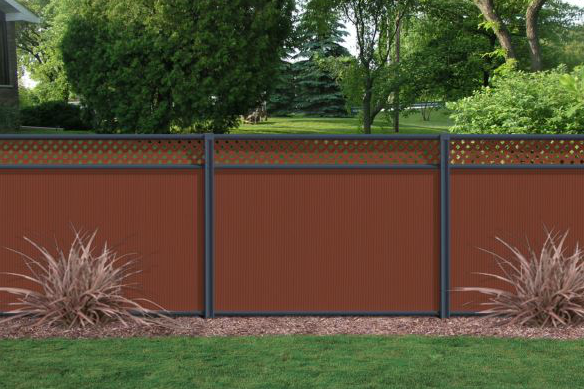 Colorbond Fencing with Lattice