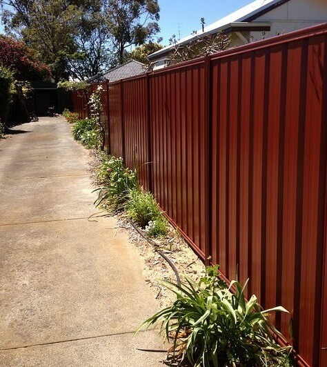 Red Colorbond Fence