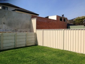 Colorbond steel fencing installation
