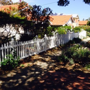 Picket Fence made of durable PVC material