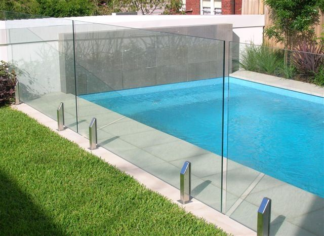 Glass Pool Fence Rendering
