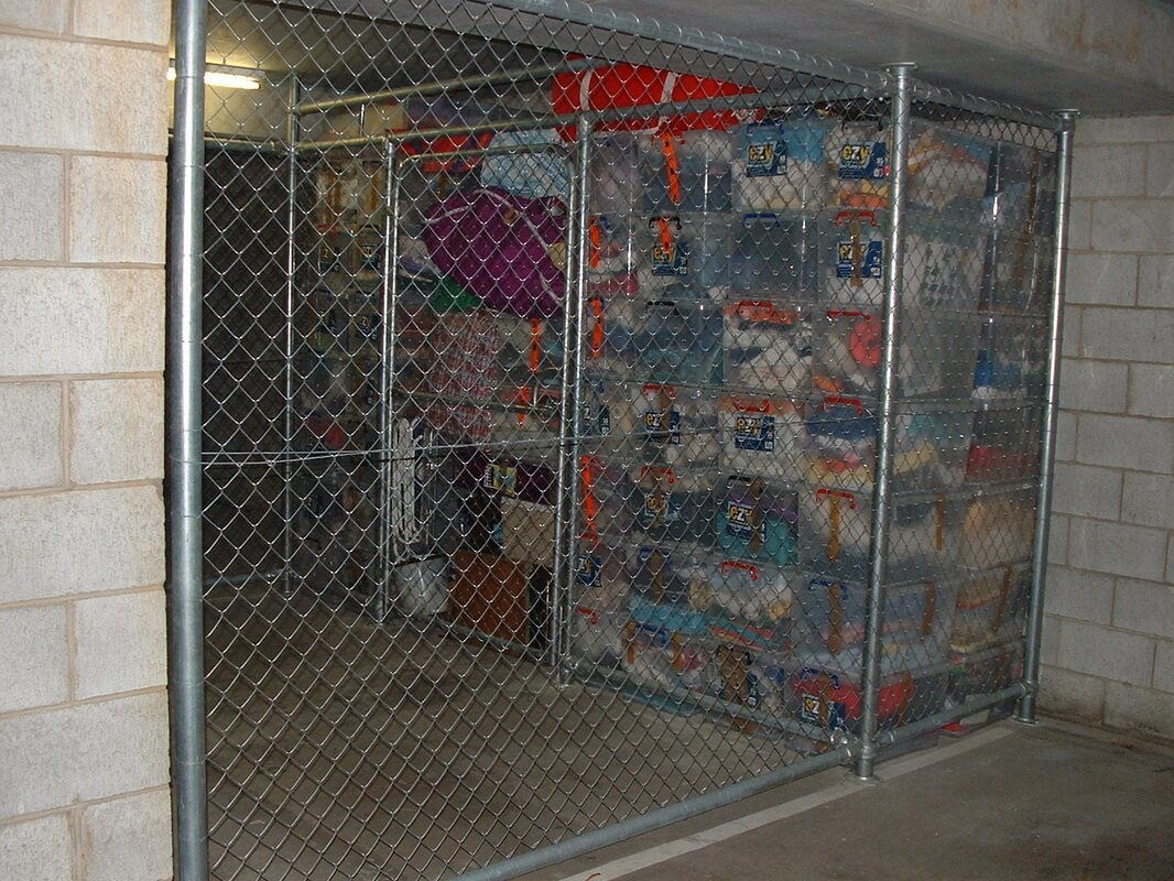 Chain Mesh Storage Cages Wire Storage For Car Park