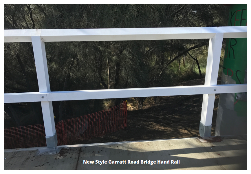 New style Garratt Road Bridge hand rail