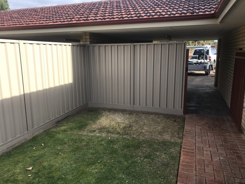 Colorbond Fencing Perth Off White
