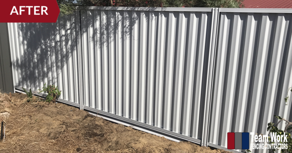 Colorbond Fence Repaired by Team Work Fencing Contractors Perth