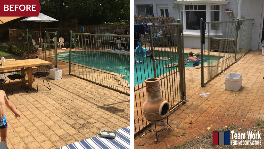 Before & After Photo: Pool Fencing Replacement Perth WA