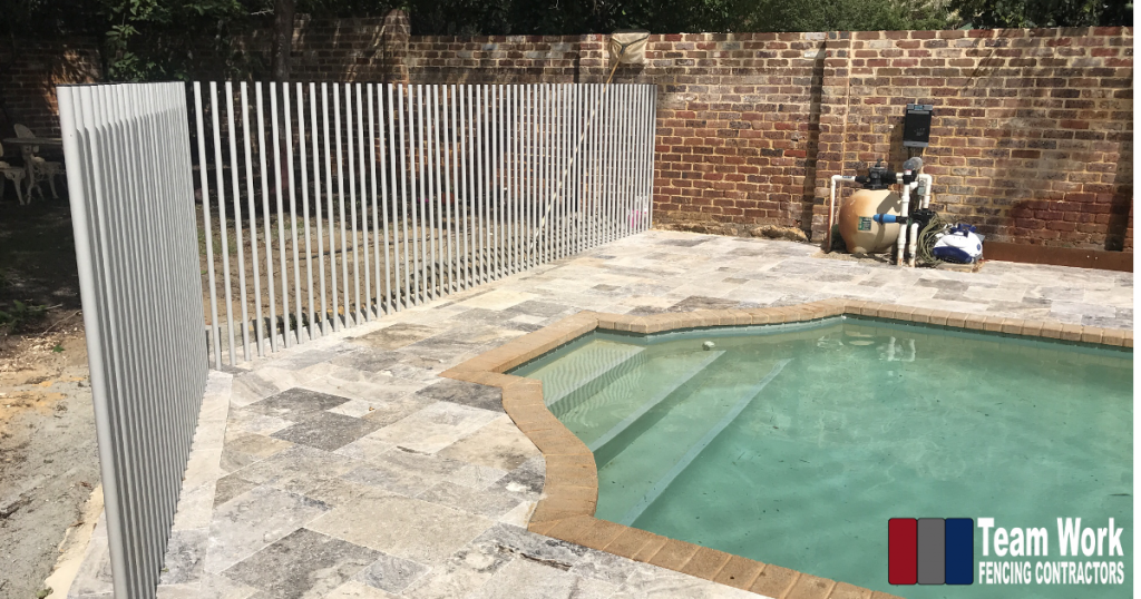 Feature Glass Pool with Tubular Post Fencing Perth WA