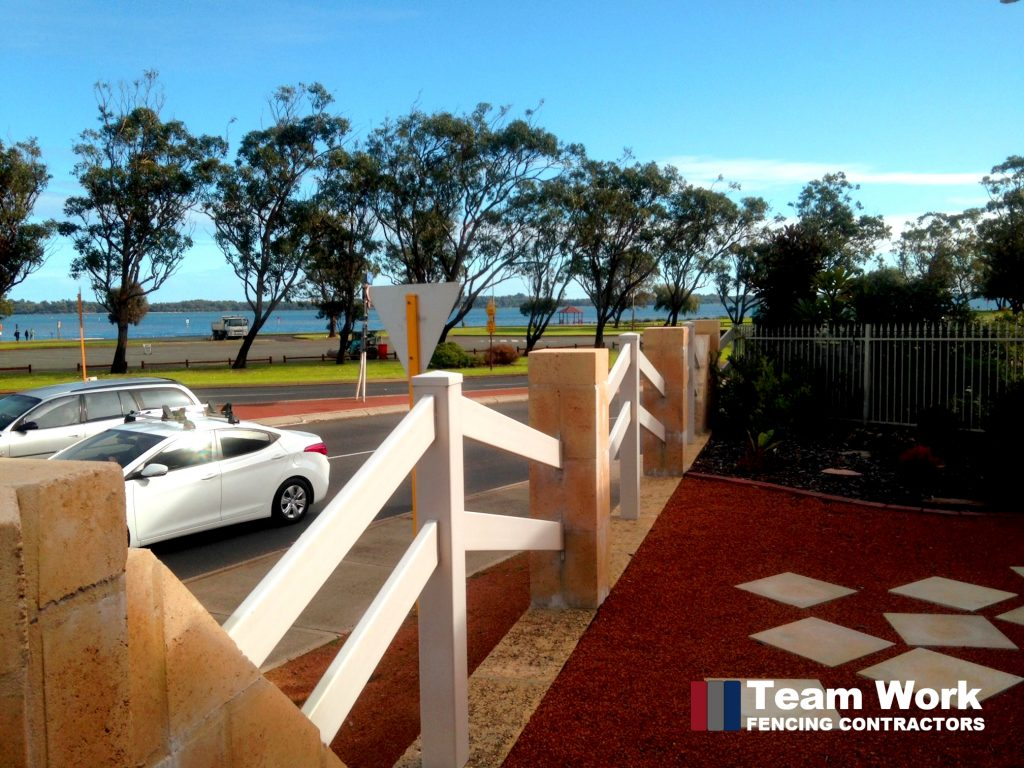 Custom White Vinyl Fencing installation in Perth Western Australia
