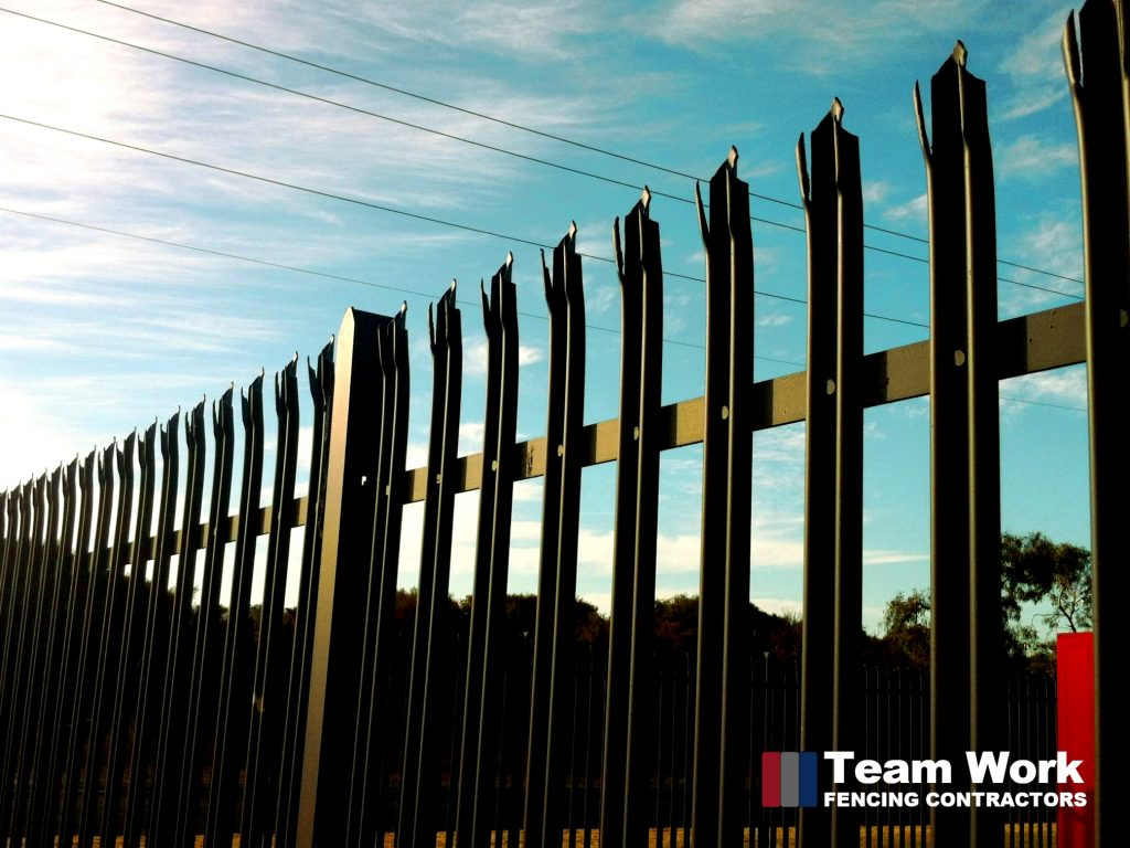 Black custom security steel fence supplied and installed in Perth Western Australia