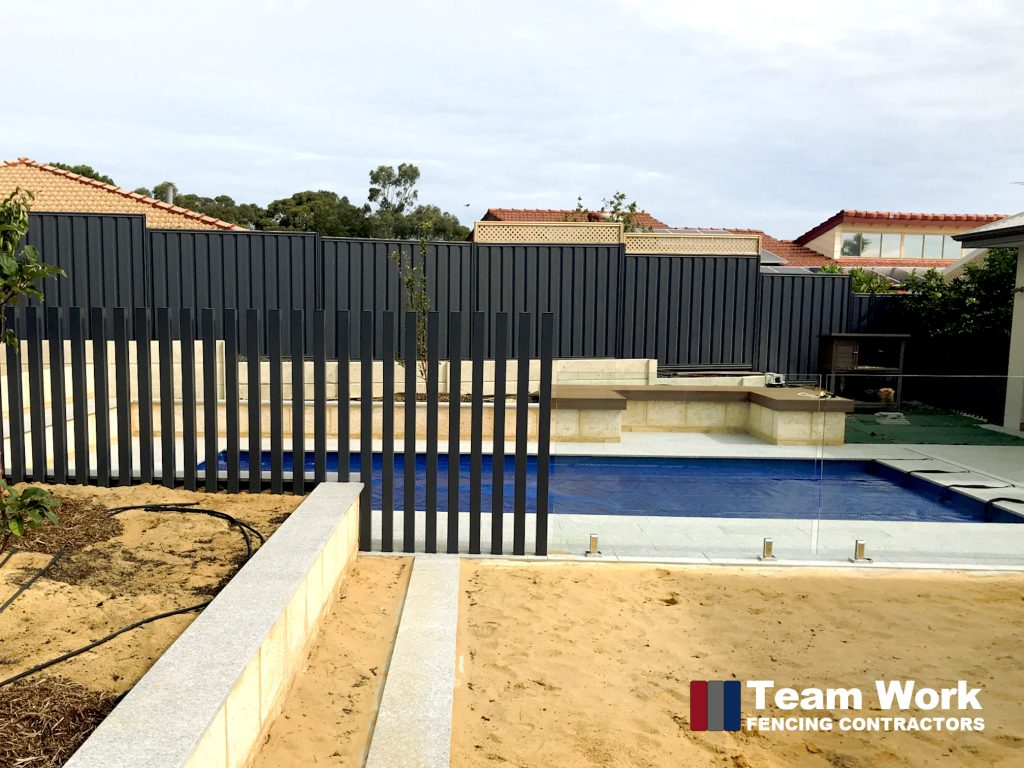Custom Glass Pool Fence with Free Standing Posts Installation in Perth