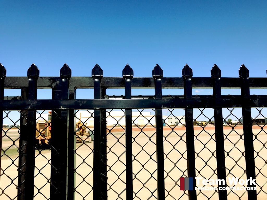 Black Garrison Security Fencing Port Hedland