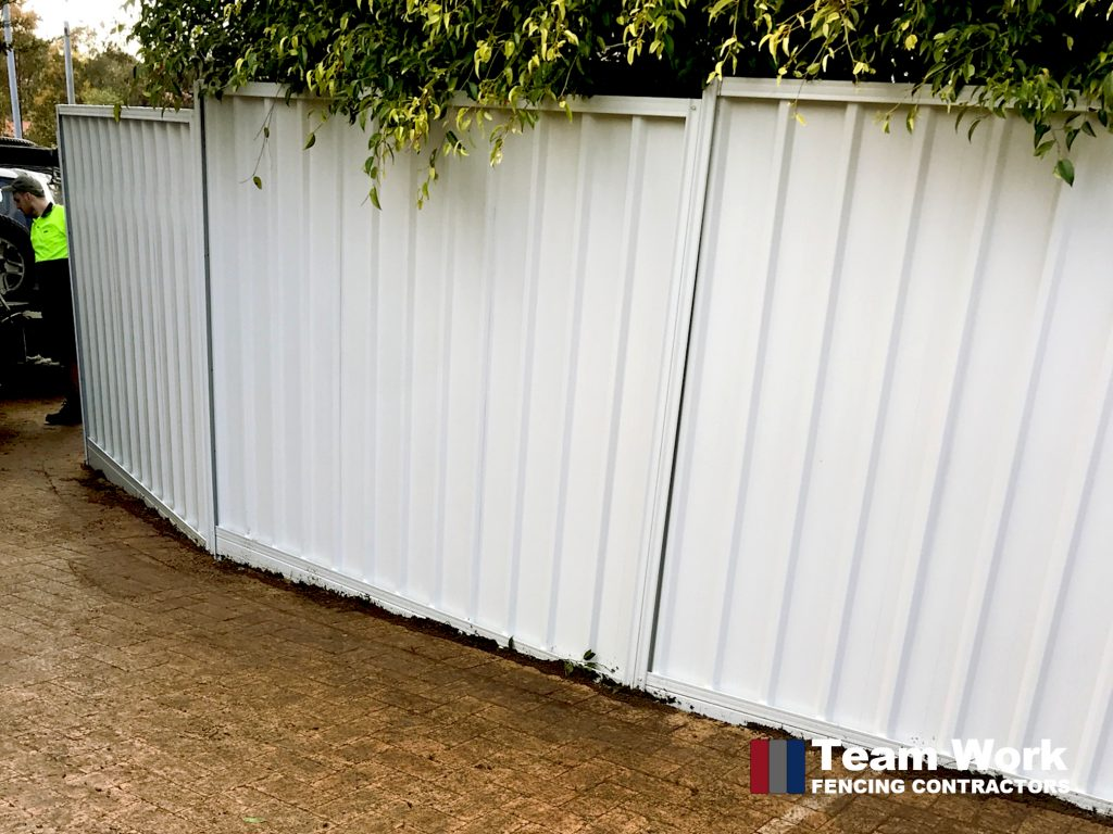 1800mm High Gray Colorbond Fence Installation Scarborough WA