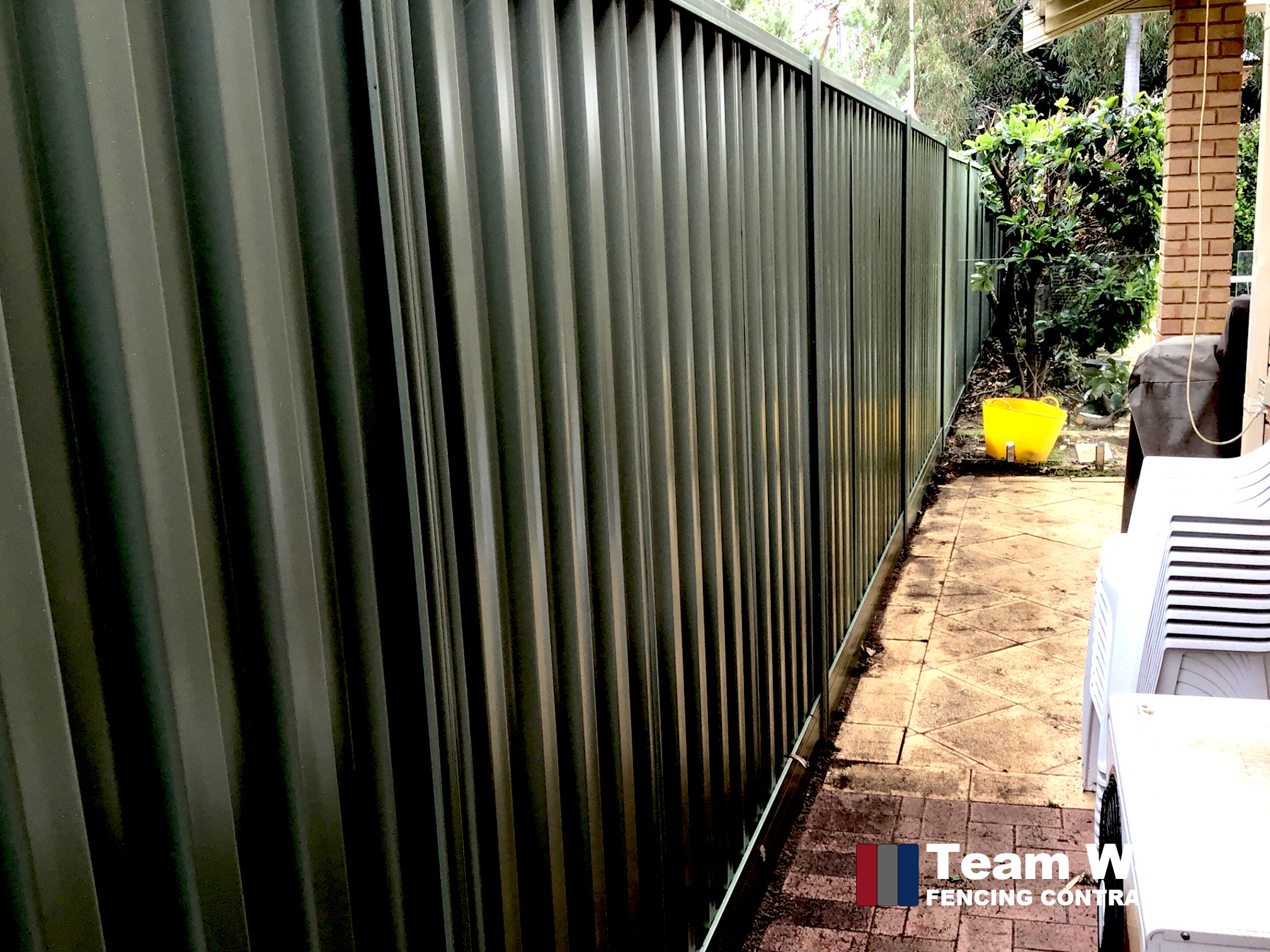 Basalt Colour Colorbond Fence Installed in Nedlands WA