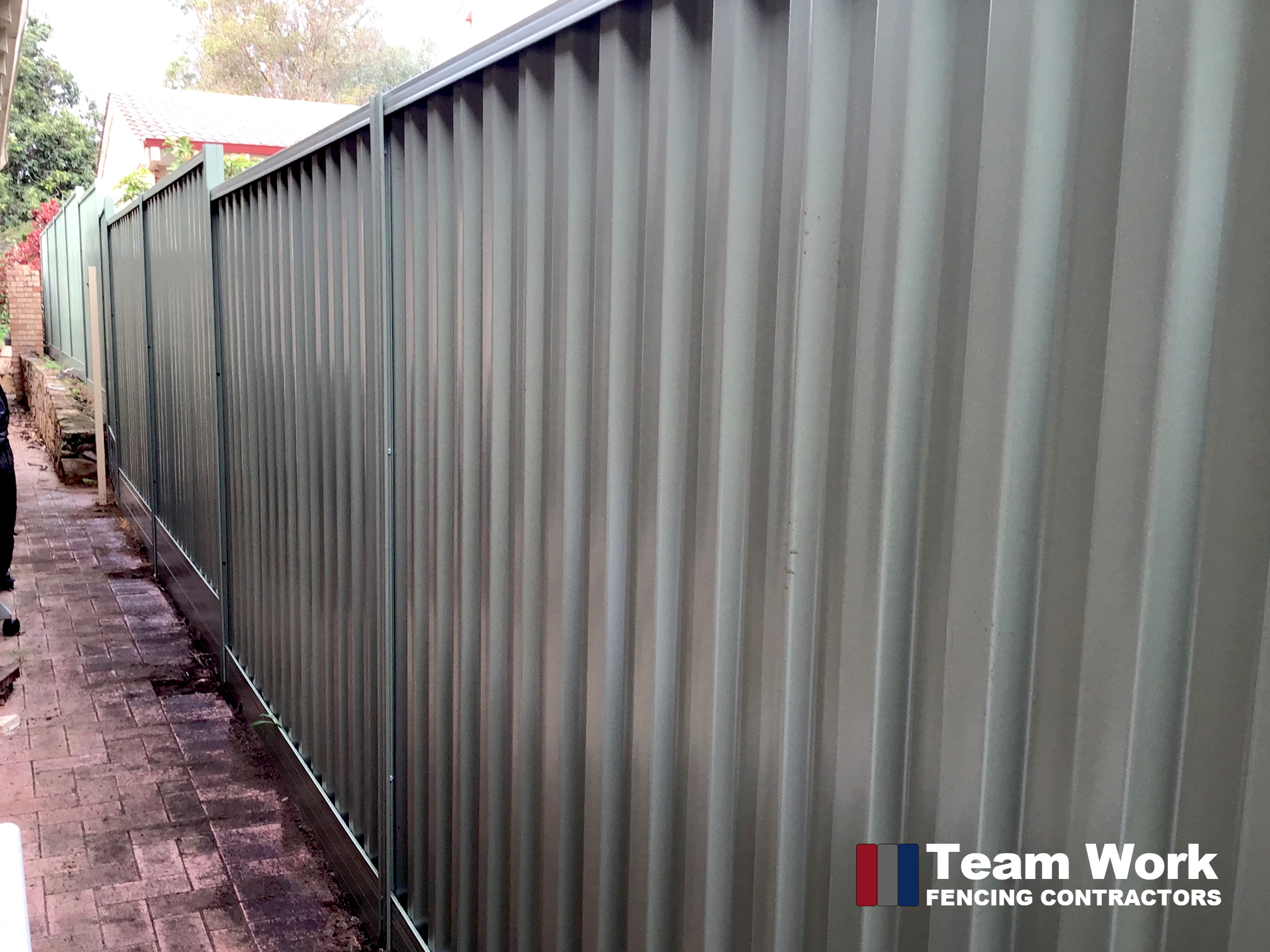 1800mm Basalt Colorbond Fence Installation in Nedlands WA