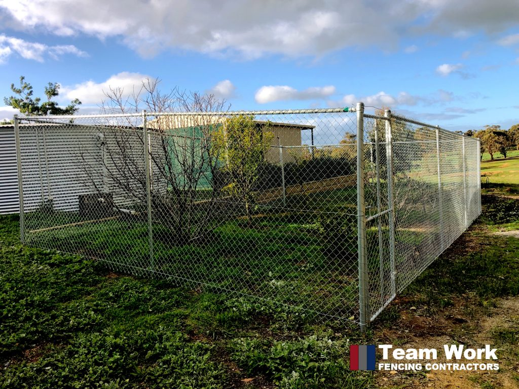 Chain Wire Fencing and Gate Installation by Team Work Fencing Contractors Perth