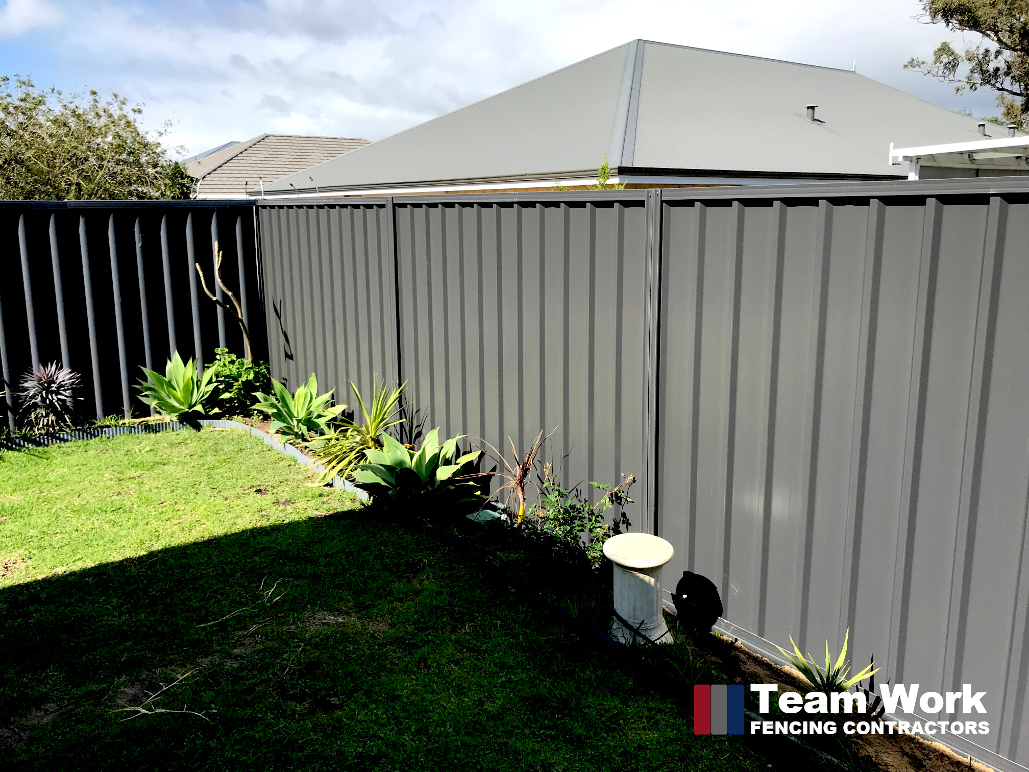 Colorbond Fencing Installation to Replace Storm Damaged Fence in Dalyellup