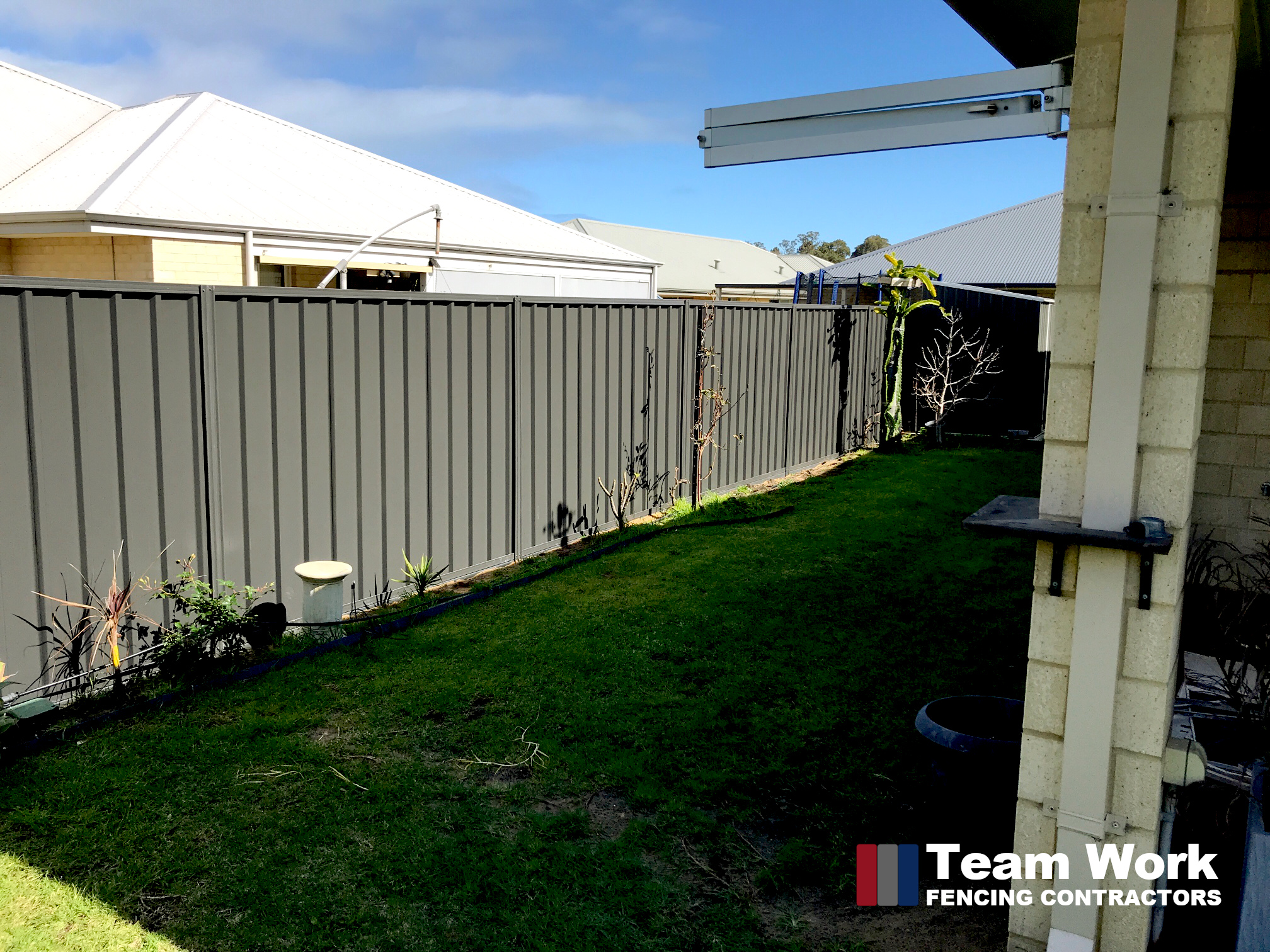 Gray Colorbond Fence and Gates Installation in Dalyellup by Team Work Fencing Contractors Bunbury WA