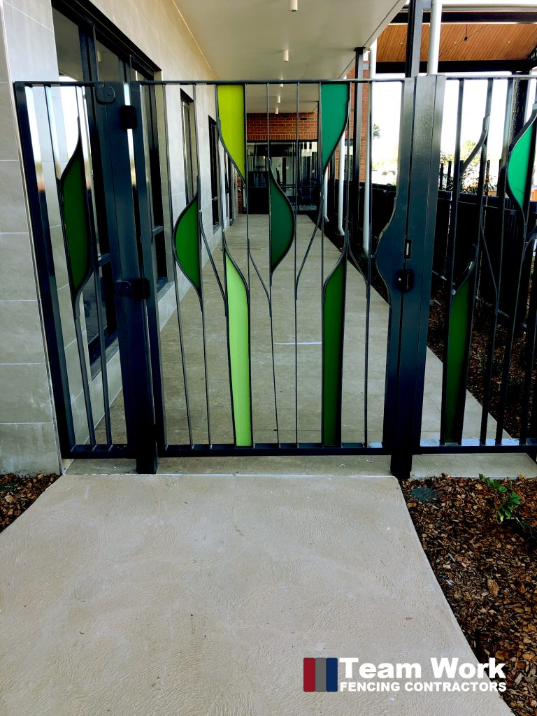 Art Deco Gates Installation by Team Work Fencing Contractors