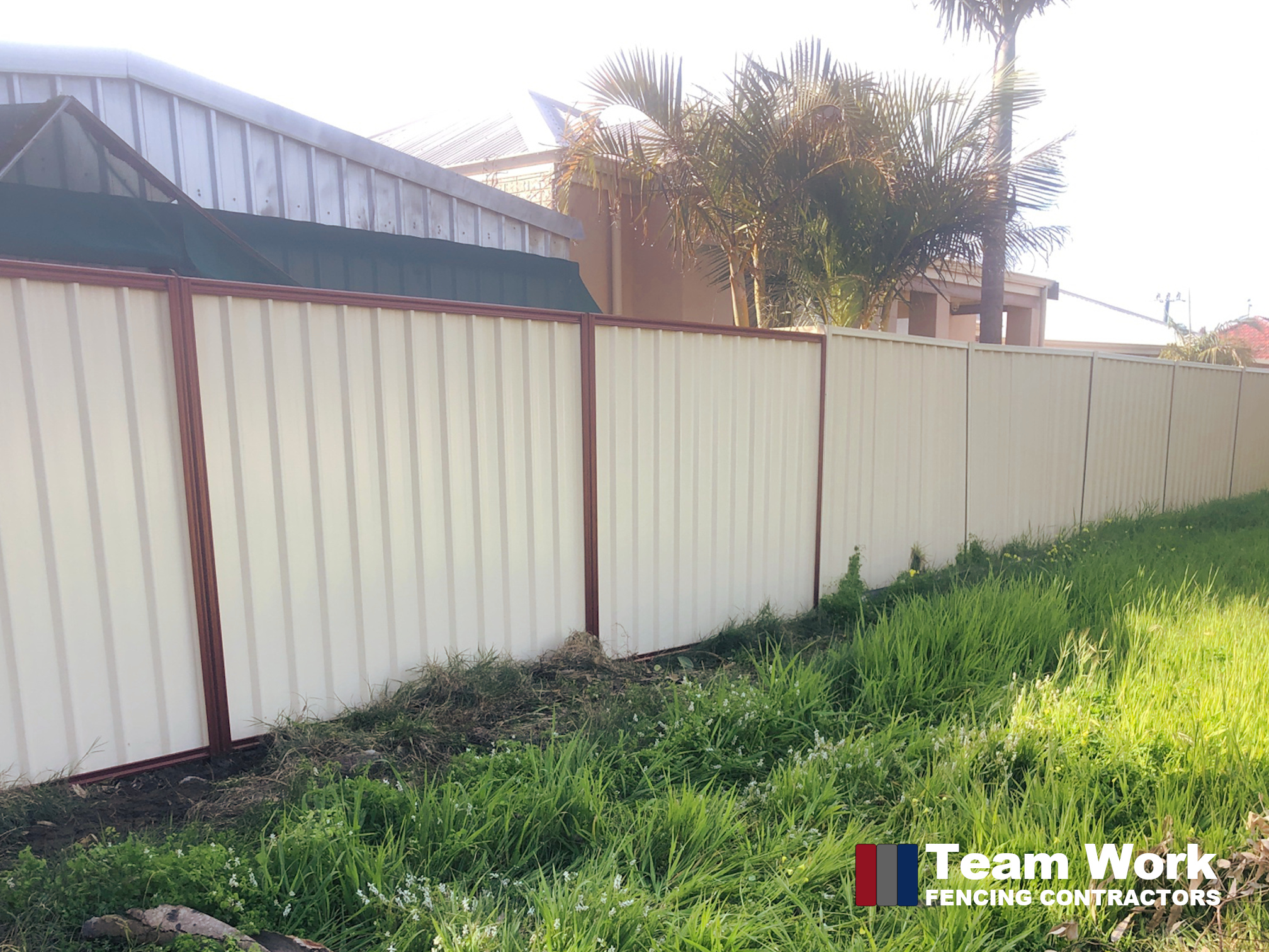 Two Tone Colorbond Fence Enhancement in South Bunbury WA