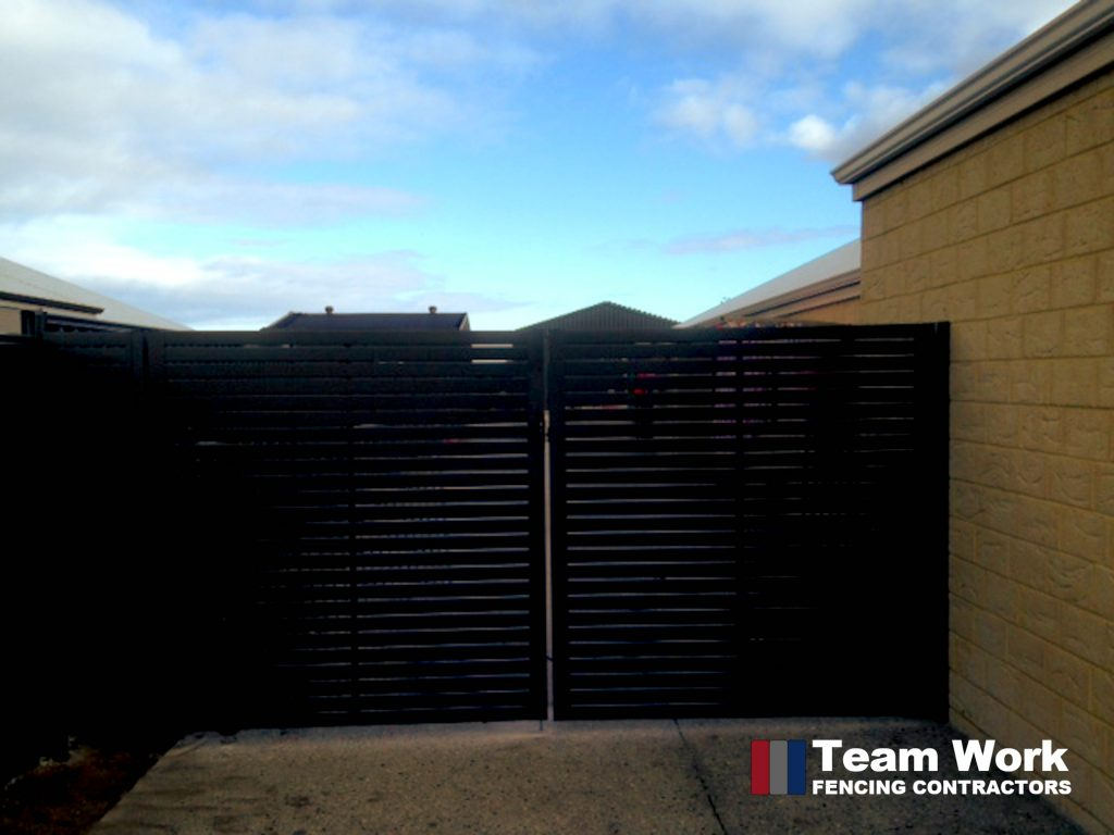 Black Ezi Slat Fence Installation in Perth Western Australia