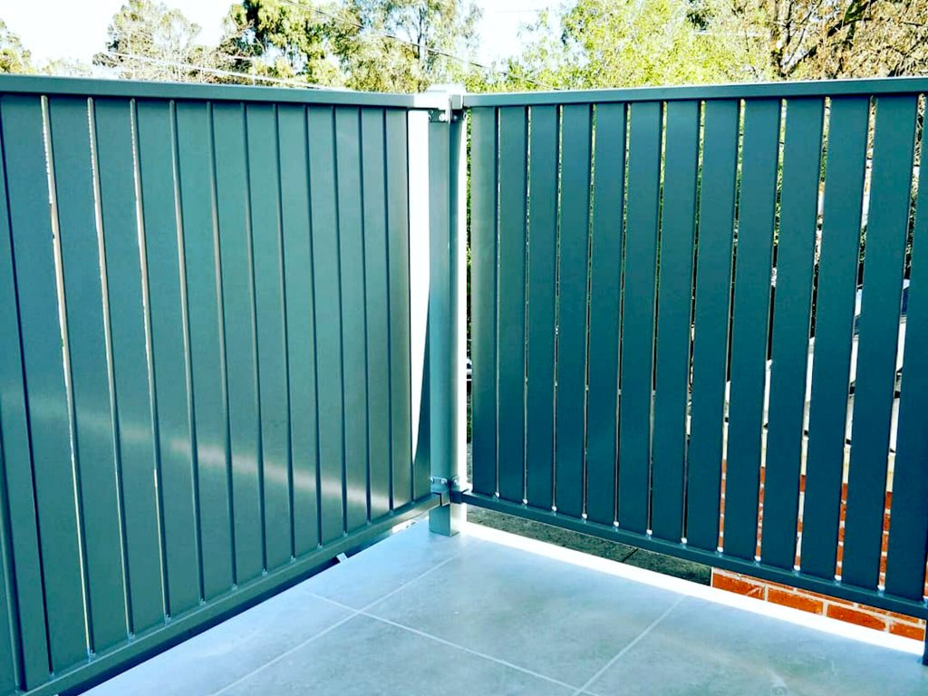 Green Vertical Slat Aluminium Fence Panels