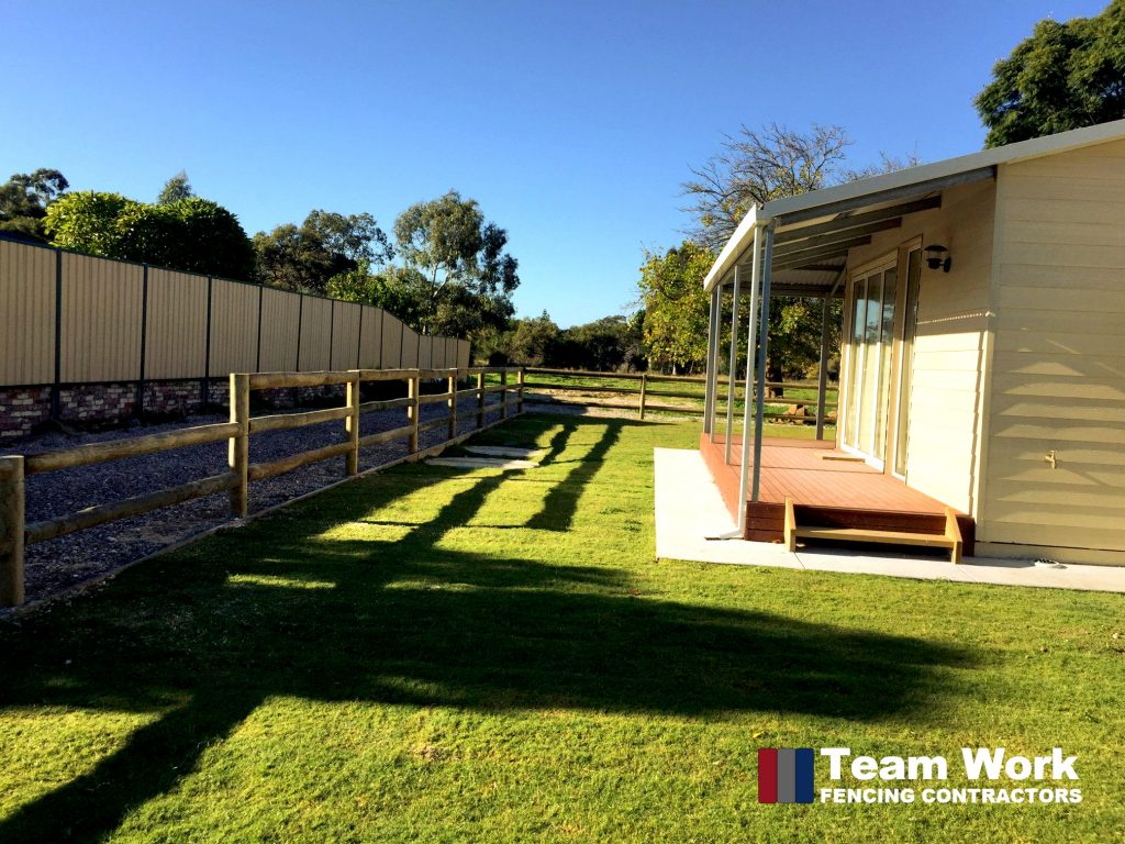 Post and Rail Rural Timber Fencing Perth