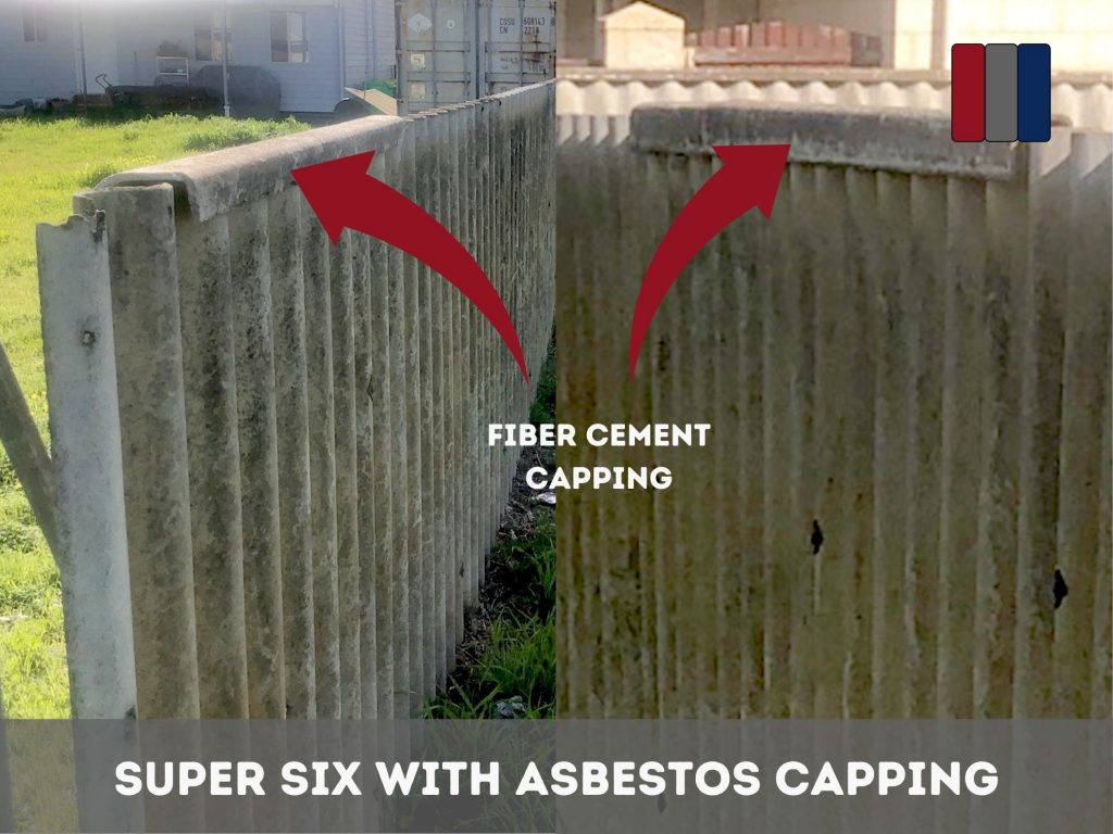 Super 6 with Asbestos Fencing Fibre Cement Capping