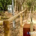 Post and rail with chain link fence Perth