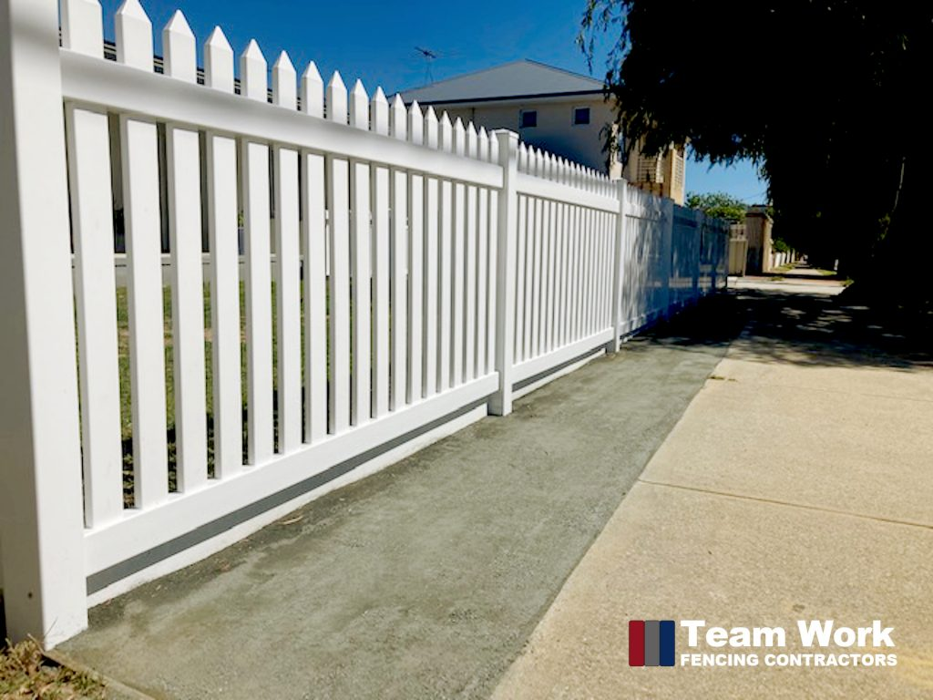 Traditional White PVC Picket Fencing Perth