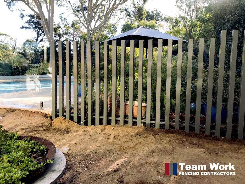 Custom Pool Fence with Frameless Glas and Free Standing Posts Perth WA