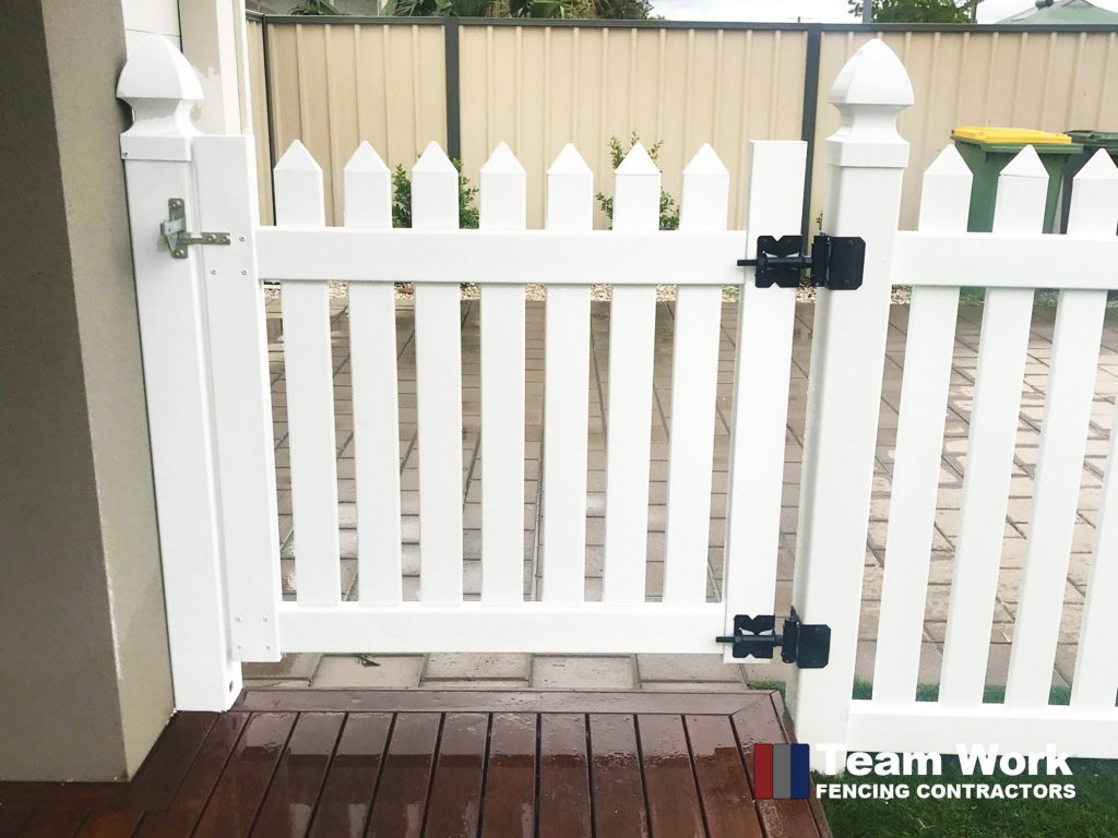 New English Flat PVC Fencing and Gate Installation in Perth, WA