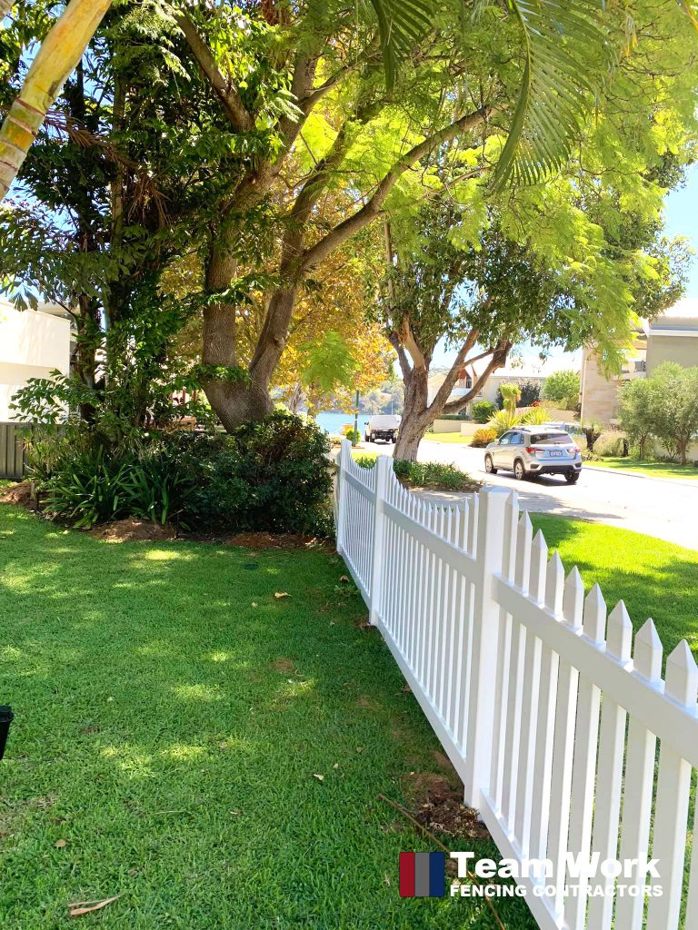Gothic Scalloped PVC Picket Fence Installation Perth