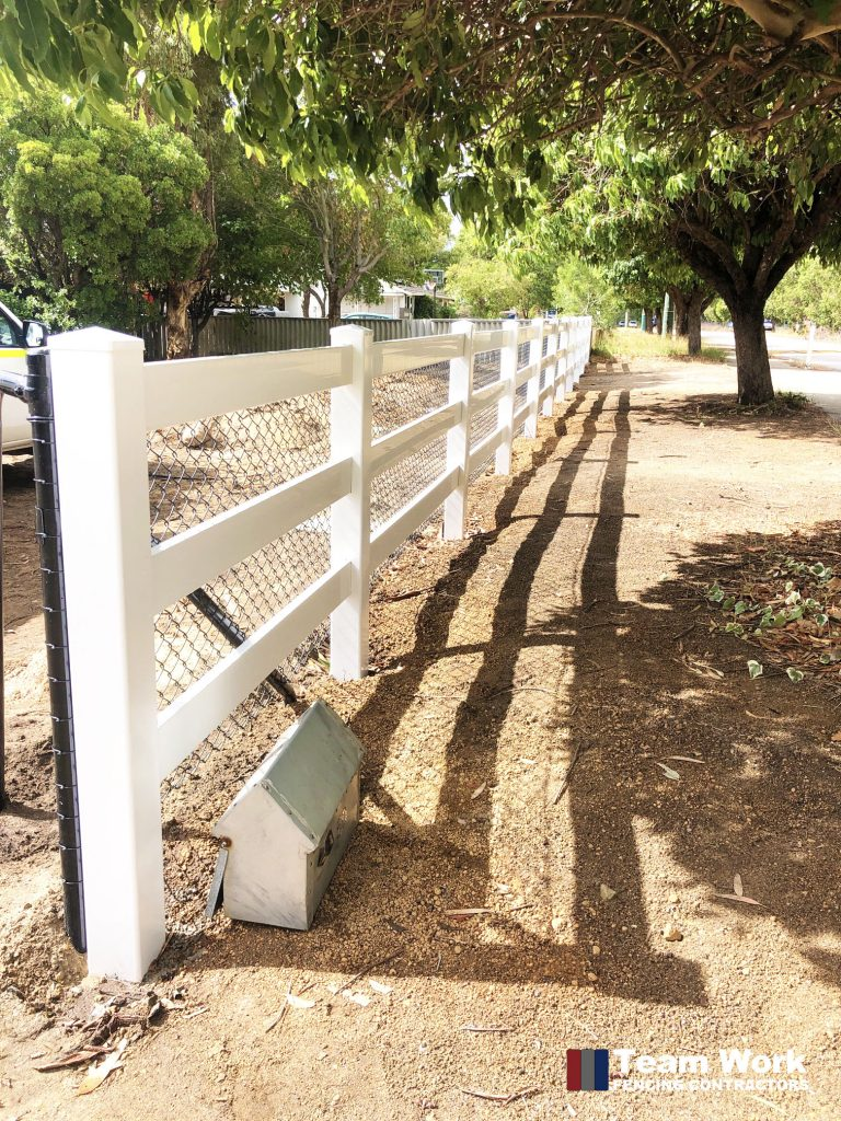 Rural PVC With Chain Wire Fencing Installation Perth