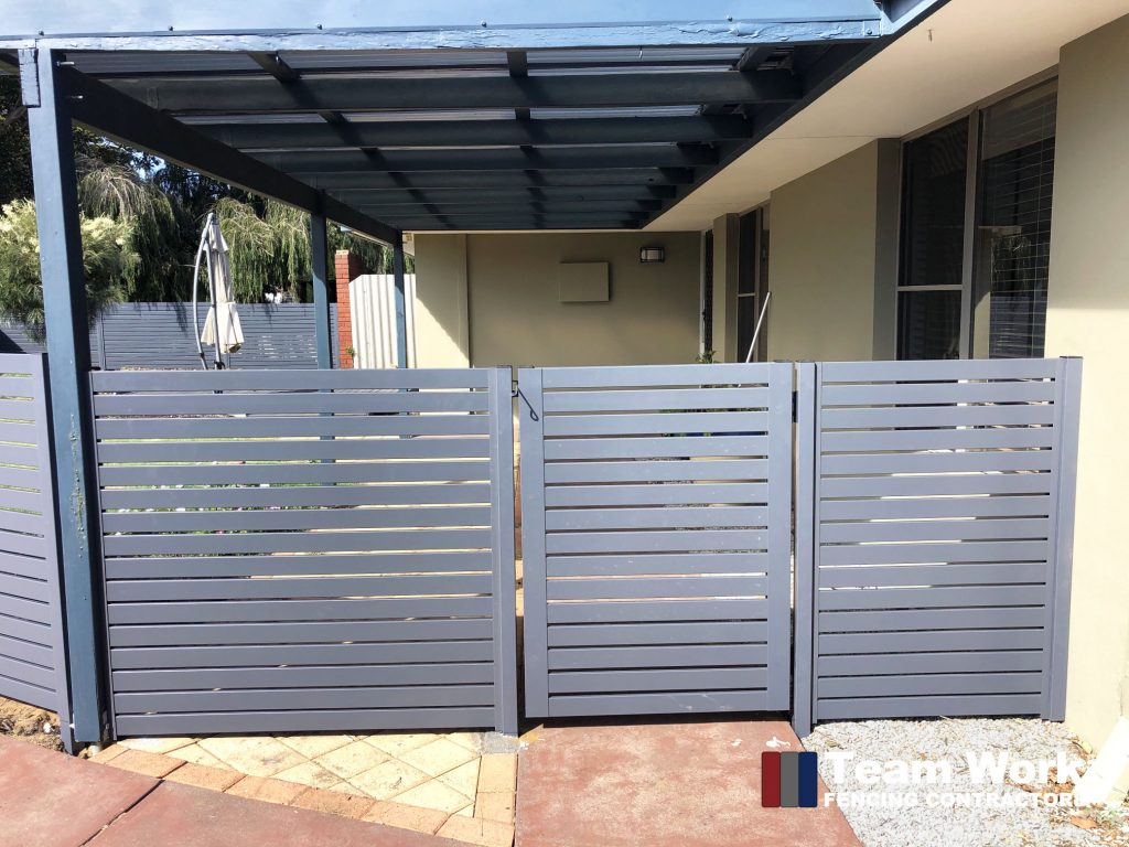 Aluminium Slat Fence and Gate Installation Perth