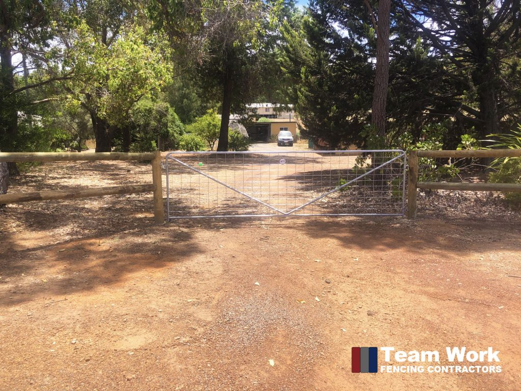 Rural Treated Pine Fence and Gate Installation Bunbury