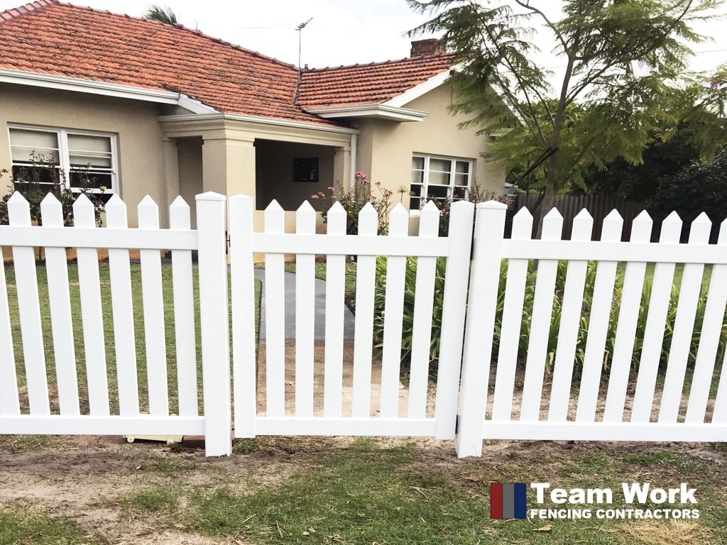 White PVC Gate and Fence Installation in Perth