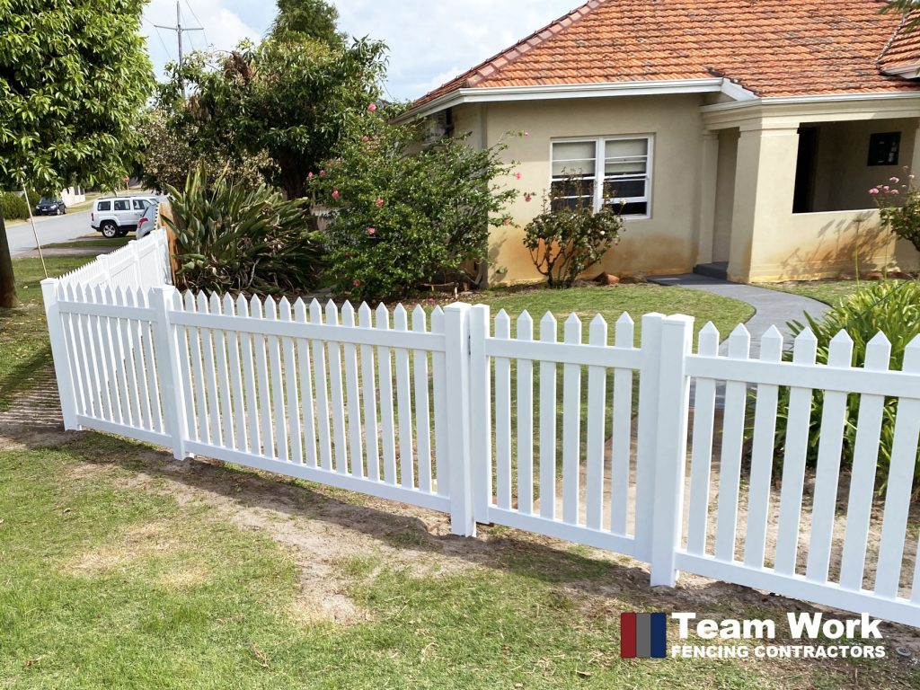 White PVC Gate and Fencing Installation Perth