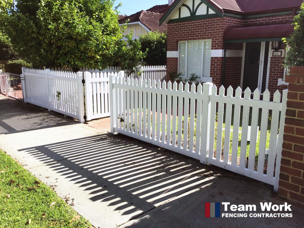Modern White PVC Fencing and Gate Installation Perth
