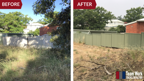 Colorbond Fencing Perth Before and After
