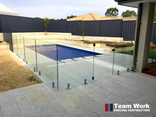 Custom Glass Pool Fence Installation in Perth - View from Deck