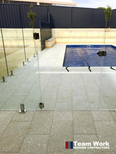 Custom Glass Pool Fence Installation in Perth - Close Up