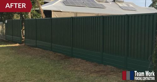 Green Colorbond Fencing